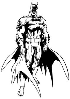 A true masterpiece. The contrast between light and dark captures the agressive personality of Batman. Wow!