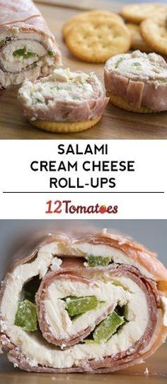 Salami Cream Cheese Roll-Ups