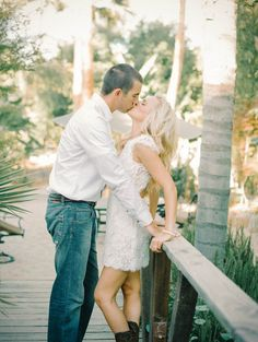 Sweet Summer Engagement Shoot: Kisses