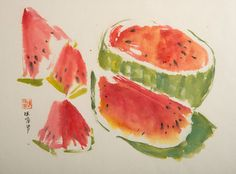 ROSE_LEE_WATERMELON_INK-WATERCOLOR_SCCSC_2015_6154