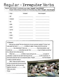 regular or irregular verbs worksheet