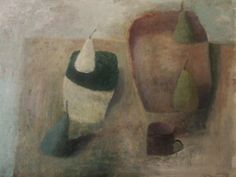 Table with Four Pears by Nicholas Turner