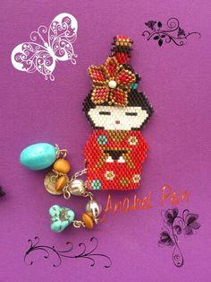 Peyote Patterns, Beading Patterns, Stitch Patterns, Chinese Patterns, Beaded Jewelry, Beaded Earrings, Brick Stitch, Cross Stitch Designs, Bead Art