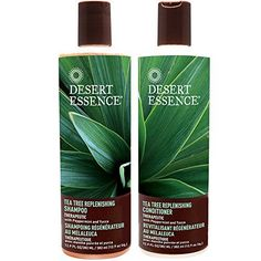 Desert Essence All Natural Organic Tea Tree Replenishing Shampoo and Conditioner For Dry Flaky Scalp With Aloe Vera, Eucalyptus, Peppermint Essential Oil, Keratin and Yucca, 12.9 fl. oz. each - http://essential-organic.com/desert-essence-all-natural-organic-tea-tree-replenishing-shampoo-and-conditioner-for-dry-flaky-scalp-with-aloe-vera-eucalyptus-peppermint-essential-oil-keratin-and-yucca-12-9-fl-oz-each/