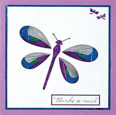 Card Making, Card ideas, Iris Folding. Dragonflies Template Included here