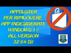 AppBuster per Rimuovere App indesiderate Windows 10 All Version Bit) Microsoft Windows, Windows 10, Science And Technology, Ms, Notebook, Drop, Link, The Notebook, Exercise Book