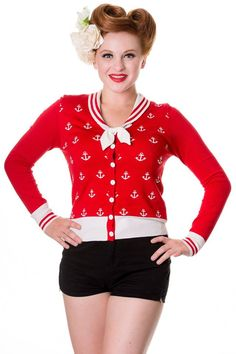 Banned Cardigan Rockabilly Pin Up Retro Vintage