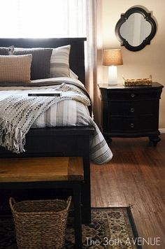 New Bedroom Colors Black Furniture Night Stands Ideas - bedroom furniture ideas Master Bedroom Design, Home Bedroom, Bedroom Decor, Master Bathroom, Bedroom Designs, Night Bedroom, Closet Bedroom, Girls Bedroom, Black Bedroom Furniture