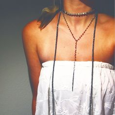 Metallic grey long wrap with silver pearls