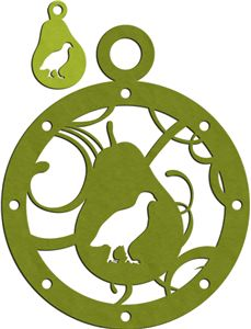 Silhouette Design Store - View Design #15098: partridge with pear charm & ornament
