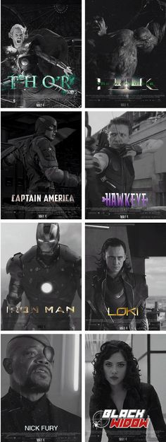 the Avengers movie posters/ Wish we had a Black widow and Hawk eye movies. Please marvel Marvel Movie Posters, Marvel Characters, Marvel Movies, The Avengers, Marvel Fan, Marvel Dc Comics, Marvel Universe, Loki, Thor
