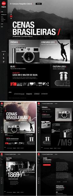 Augusto Paiva / Interactive Whatever Webdesign Inspiration for simple and minimal, minimalistic Websites. Clean Layout and User Interface Designs, Portfolios, Fashion, Landing Pages and Modern Templates Layout Design, Game Design, Interaktives Design, News Web Design, Web Design Trends, Web Layout, Logo Design, Web Design Black, Web News
