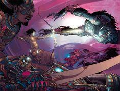 MBX Vol 03 17 Nakul Abhimanyu Sahdev by =Nisachar on deviantART Fantasy World, Fantasy Art, Indiana, Concept Art Books, Futuristic Armour, The Mahabharata, One With Nature, Sci Fi Art, Comic Art