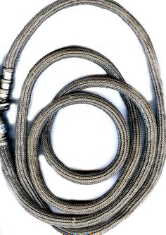 Omani belt , silver  chain woven crochet like work 6 feet long (archives sold Singkiang)
