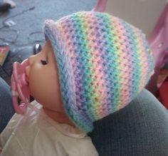 Slip Stitch Preemie Beanie <3