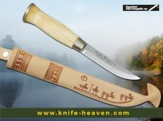 Iisakki Hunting 5226  #Iisakki Järvenpää with this brand you will find general #Finland #hunting #knives, really nice #Laplanders and a very special #collection of #Osthrobothnic.  www.knife-heaven-shop.com