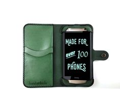 Mix up your routine with this stylish leather phone case from Hand and Hide. The Classic Wallet Case not only protects your HTC One Mini 2 from most damage but also doubles as a wallet for all of your