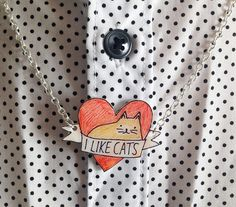 Does your mum like cats? And jewellery?  Here is the perfect gift https://www.etsy.com/listing/177779981/i-like-cats-heart-necklace-cat-necklace