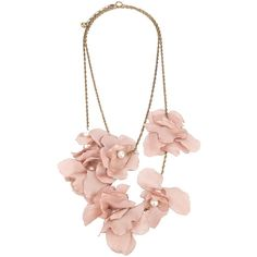 LANVIN silk flower necklace (3.980 VEF) ❤ liked on Polyvore featuring jewelry, necklaces, accessories, jewels, pink, women, flower jewellery, flower necklace, lanvin jewelry and flower jewelry