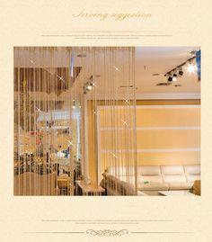 Shiny Tassel Flash Silver Line String Curtain Window Door Divider Sheer Curtains – Home decor