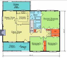 Camden floor plan from Ward Cedar Log Homes. by suzanne