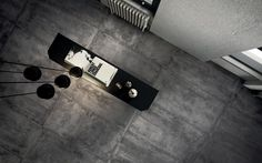 Give in to your love of industrial with our Diesel Stage tile collection. With its raw texture and metallic finish, Diesel Stage comes in darker, muted hues, for an ultramodern look that wraps you in a whole new ambience.