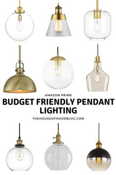 We are on the hunt for pendant lighting for our kitchen. I am gathering the most gorgeous, high-end looking brushed gold budget friendly pendant lighting! Island Pendant Lights, Brass Pendant Light, Pendant Lights Kitchen, Breakfast Bar Pendant Lights, Breakfast Bar Lighting, Island Pendants, Ceiling Pendant, Bathroom Pendant Lighting, Kitchen Lighting Fixtures