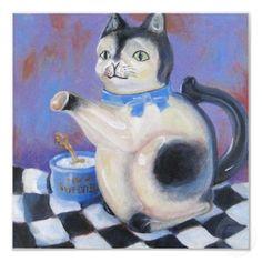 vintage cat teapot