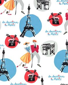 An American in Paris - Broadway Getaway - Quilt Fabrics from www.eQuilter.com