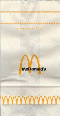 McDonald's sack #2 | Older McDonald's paper sack, probably f… | Flickr