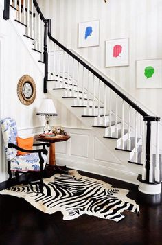 The Zhush's Preppy Connecticut Home Tour  //  LOVE the white and black wood combo!