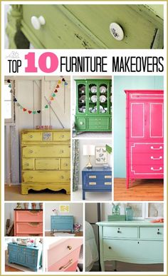 Top 10 Furniture Makeovers-paint china cabinet with a pop of color?
