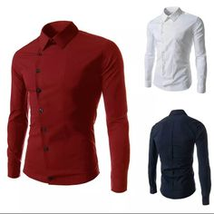 Side Button Dress Shirt