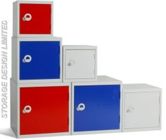 Cube lockers in 3 sizes, great for odd little spaces