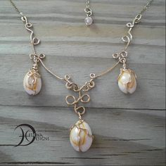 Mermaid necklace with shells, Wire art necklace, Delicate necklace, Hammerd gold wire necklace, Hippie necklace, Nautical jewelry, Tennagers by Helenadesignsart on Etsy