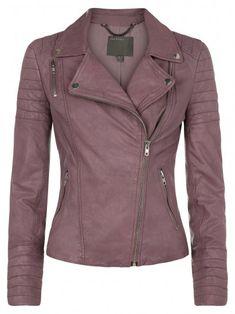 Mersault malva jaqueta de motoqueiro de couro Mais