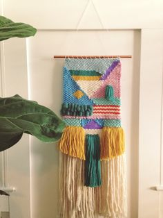 Woven Wall Hanging/ Woven Wall Art by SunWoven on Etsy