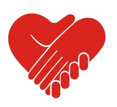 Hands with Heart | Cartoon: Caring Hand Logo (medium) by etc tagged logo,heart,kids,care