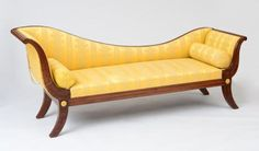 """JOSEPH BARRY (ATTRIBUTION), GRECIAN"""" SOFA, CARVED MAHOGANY, GILT-BRASS MOUNTS - oak and ash, secondary woods. 34 1/2 x 83 x 24 in.Literature: Included in Donald Fernemore and Robert Trump, Joseph B. Barry, Philadelphia Cabinet Maker"""