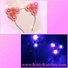 #LUVIT 😻 LUV this Customizable Blue LED and Pink Daisy #CatEarHeadband going to a beautiful #FlowerChild 💙🌸💙🌸 Get your LED #CatEars at www.KittyKatrina.com in our LED Crowns / Headbands Section 😘 #kittyears #ledflowercrown #flowerheadband #flowercrown #flowerchildren #rave #raver #ravecostume #raveoutfit #ravegirls #festivalfashion #festivallife #edmgirls #edmfashion #electricdaisycarnival #edc #edclasvegas #edcgear #lasvegas #nv #nevada #burningman #burnerfashion #lollapalooza…