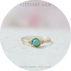 Wow teal rings are just adorable! What a cute promise ring!