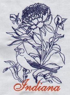 Advanced Embroidery Designs - Indiana: Cardinal