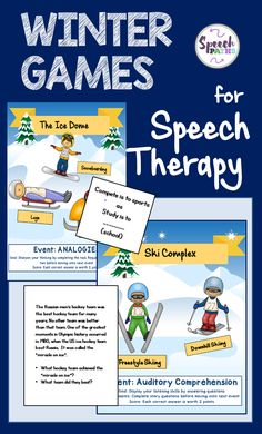 Celebrate the Olympics in Speech Therapy!   This game-based resource is Olympic-themed and great for  mixed groups.