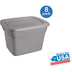 Sterilite 18-Gallon (72-Quart) Storage Box, Set of 8