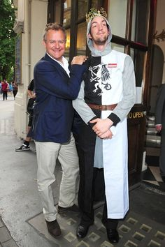 Hugh Bonneville was at The Playhouse Theatre last night to see a performance of Monty Python's Spamalot, in which he plays God on screen. News - London Evening Standard