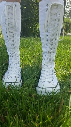 af709ca54f2 This would be my pair of white knee high converse! I m planing to wear all  black with my black leggings so that they would contrast!