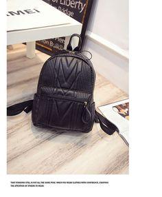 5ccb77596b8 ... cuero famoso mujeres Ladies negro mochila pequeñas bolsas de viaje  escuela adolescente de teenager school bag fiable proveedores en  Shop1960197 Store