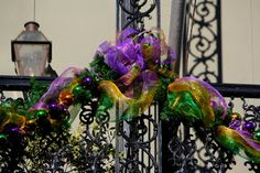Mardi Gras Decorations in French Quarter