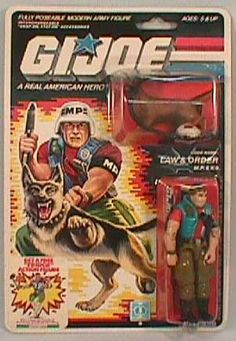 G.I. Joe's Law & Order (K-9) debuted 1987 as a Military Police Specialist.