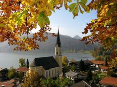 Schliersee is a village on the correspondent lake Schliersee in south Bavaria